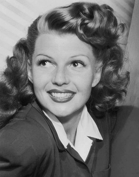 "Rita Hayworth, 1941 ""I like having my picture taken and being a glamorous person. Sometimes when I find myself getting impatient, I just remember the times I cried my eyes out because nobody wanted to take my picture at the Trocadero."""