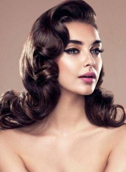 50 Trendy Hair Styles Elegant Vintage Make Up Vintage Hairstyles For Long Hair Hollywood Hair 1940s Hairstyles For Long Hair