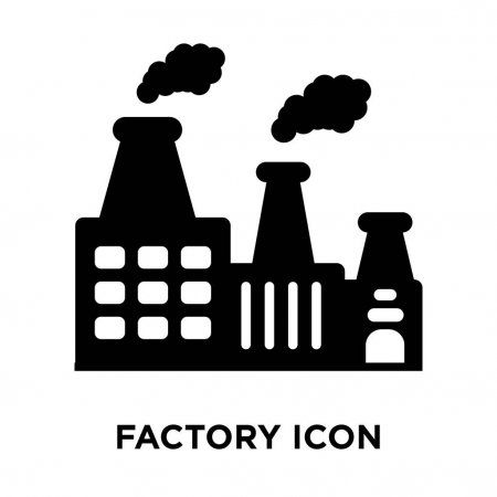 Factory Icon Vector Isolated White Background Logo Concept Factory Sign Ad Vector Isolated Factory Icon Ad Desain
