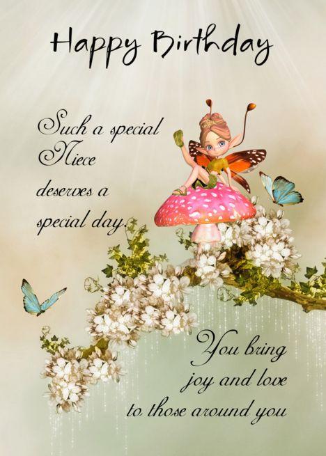 Niece Fairy Birthday Card With Blossom Card Ad Ad Birthday Fairy Niece Card Birthday Cards Birthday Cards For Niece Birthday Greeting Cards