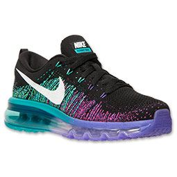 nike womens air max flyknit running shoes black and purple price