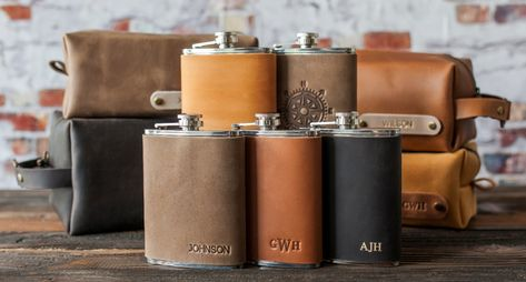 Groomsmen Gifts Unique, Groomsman Gifts, Groomsmen Flask, Dopp Kit, Gifts For Him, Anniversary Gifts, Gift Guide, Wedding Gifts, Wedding Bells