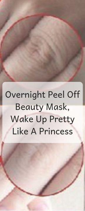 بين عشية وضحاها تقشر قناع الجمال استيقظ جميلة مثل الأميرة عملية الجلد استيقظ الأميرة الجل Beauty Mask Overnight Peel Homemade Skin Care Recipes