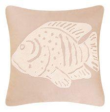 Sand Dunes Fish Throw Pillow   OceanStyles.com