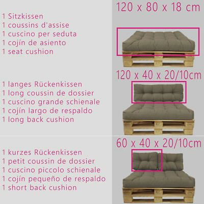 Details About Pallet Cushions Euro Palette Cushion Outdoor Sofa