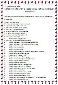 732 Motivos Para Te Amar Surpresa Para Amiga Carta Para Melhor