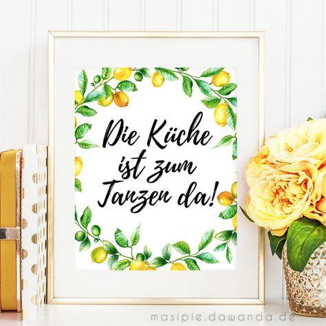 Originaldruck Wandbild Die Kuche Ist Zum Tanzen Da Ein Designerstuck Von Masipie Bei Dawanda Wandbilder Dawanda De Etsy