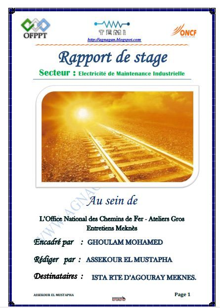 Rapport De Stage En Electricite Industrielle Electricite De Batiment Et D Equipements Rapport De Stage Improve Yourself Technology
