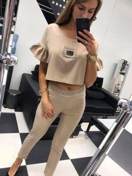 Komplet Paparazzi Fashion Spodnie Bluzka Plaszcz 8114098106 Oficjalne Archiwum Allegro Fashion Two Piece Pants