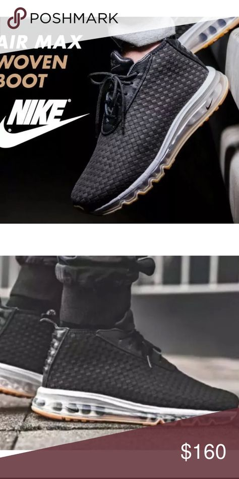 Nike Air Max Woven Boot Premium Black SZ 13 NEW WITHOUT BOX