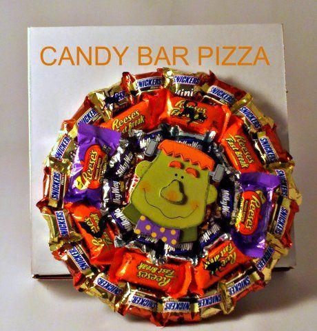 Halloween Candy Bar Pizza