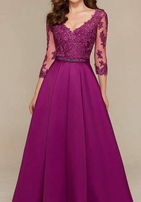 Vestido longo púrpura | ::Violet Dresses:: | Pinterest | Bb, Gowns ...