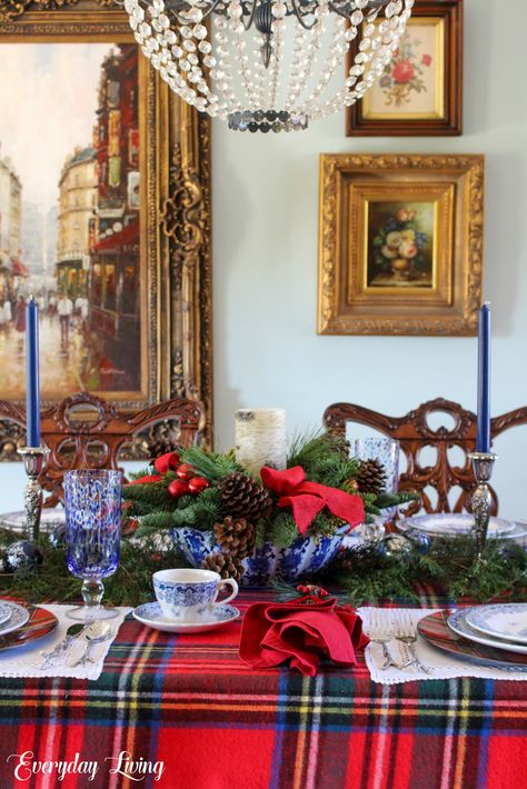 """"""" John  Happy December dear friends and welcome to Monday Morning Blooms. Tartan Christmas, Christmas Mantels, Blue Christmas, Beautiful Christmas, Christmas Home, Christmas Holidays, Christmas Decor, Merry Christmas, Christmas Villages"""