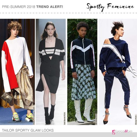 Sporty Feminine is one of the Mega Trends that we at predicted for SS so watch out for it on the runways because It's a big confirmed Trend.