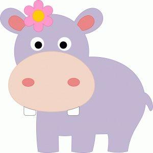 Silhouette Design Store: cute hippo