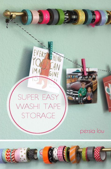 Smart! Super Easy Washi Tape Storage