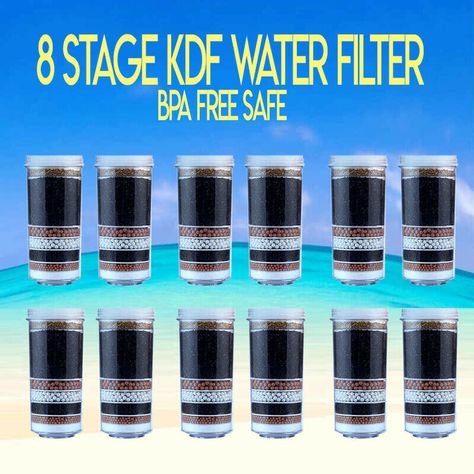 8 Stage Aimex Water Filter Cartridge Activated Charcoal Minerals Ceramic 12 Pcs Aimex Aimexawesomewaterfilter Waterfiltercartridge 8stage Prestigehealthyx1