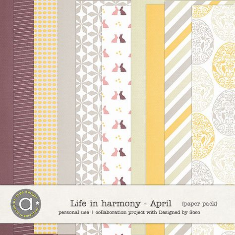 Life In Harmony - April {Papers} :: Papers :: Memory Scraps