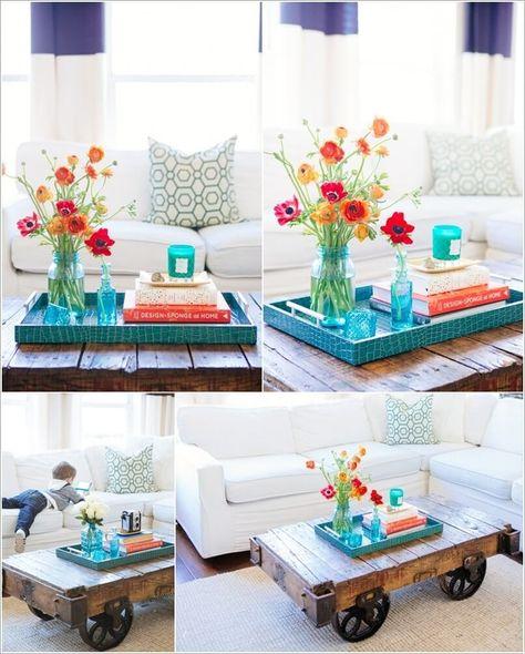 Diy Coffee Table Centerpieces Easy Craft Ideas