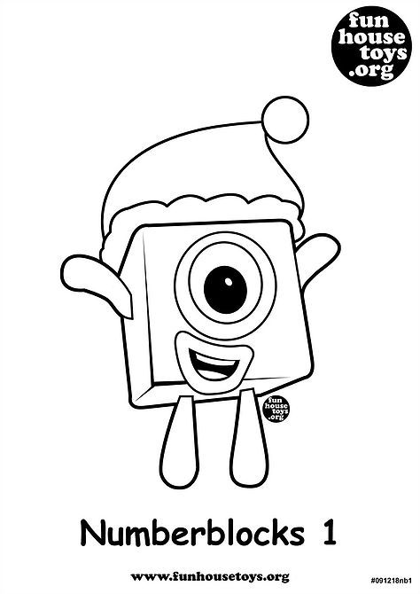 Numberblocks 1 Printable Coloring Page J Printable Coloring Pages Coloring For Kids Free Printable Coloring Pages