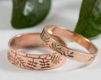 Wedding Bands Set Etsy Uk Wedding Band Sets Wedding Bands Etsy Uk