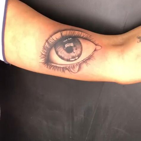 3D Cry Eye Tattoo!