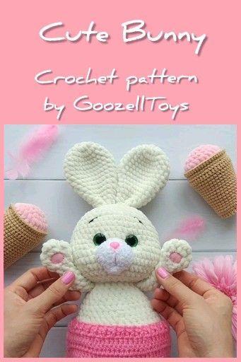 Bunny Amigurumi Crochet Pattern - Rabbit Crochet Pattern - Easter - | 512x341
