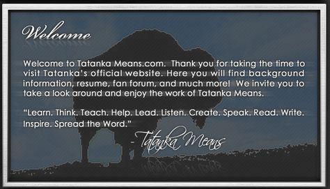 Tatanka Means Native American Actor, Comedian, Speaker NATIVE - read write think resume