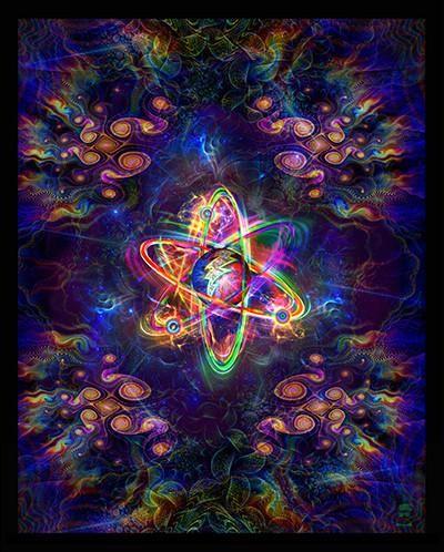 Psychatomic Atom Tapestry - Medium - 38.5 x 48