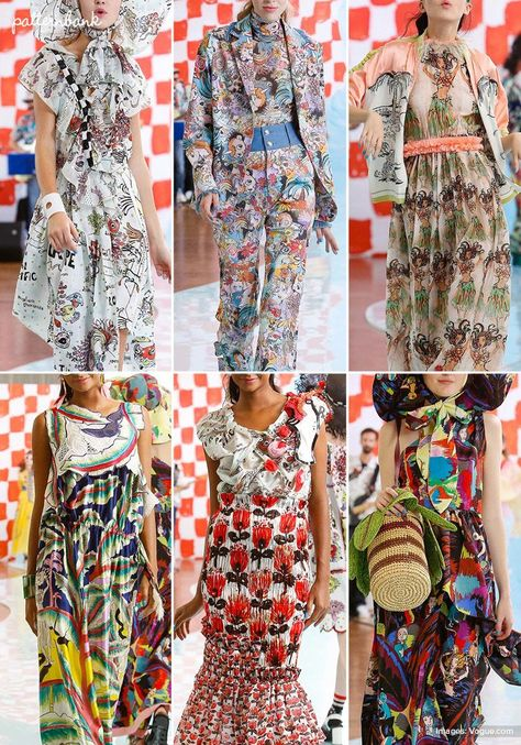 Paris Catwalk Print & Pattern Highlights - Spring/Summer 2018 Ready-to-Wear | Patternbank