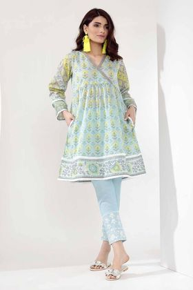 Khaadi 2 Piece Printed Custom Stitched Lawn Suit - T18302 - Blue