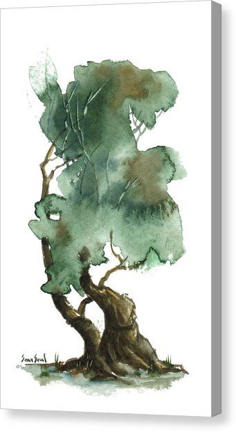 Little Tree 116 By Sean Seal Watercolor Trees Bonsai Art Painting
