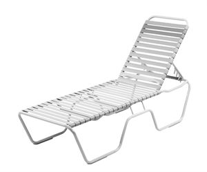 St Maarten Chaise Lounge Vinyl Straps With Aluminum Frame For