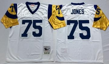 super popular 06466 887c4 Men 75 Deacon Jones Jersey Football Los Angeles Rams Jersey ...