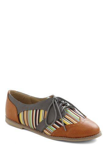 A really fun looking shoe! (Candlepin Cutie Flat, #ModCloth)