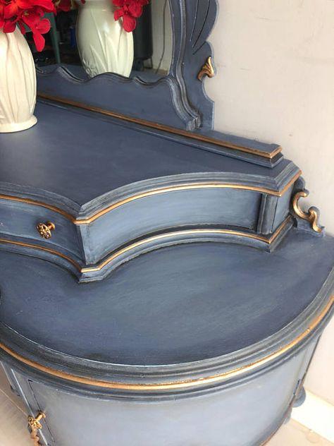 Painted Furniture Vintage Vanity Makeup Mirror