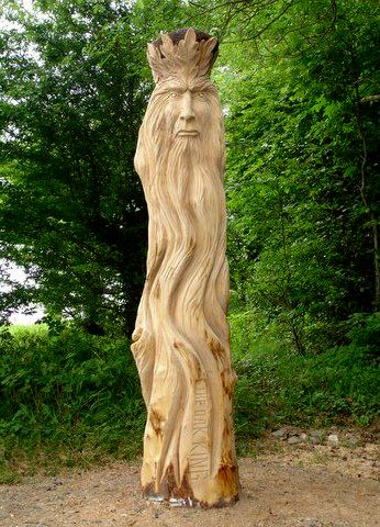 Richie Clarke Wood Carving The Oak King Tree Carving Carving Whittling