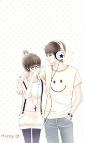 Pin By Rica Coloma On Couple Boy Girl Anime Korea Cute Couple Cartoon Animated Love Images