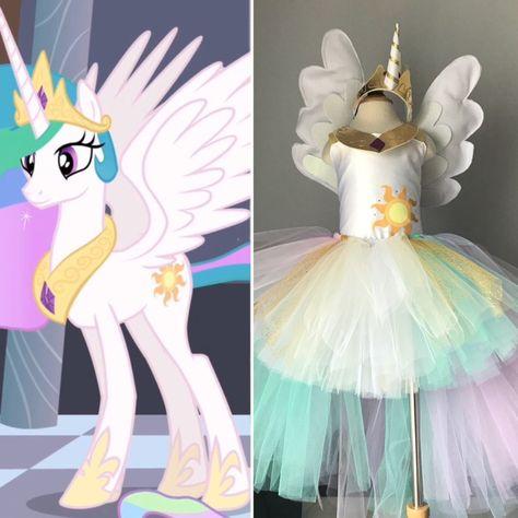 ARCOBALENO Unicorn Tutu Costume Donna Halloween Bambini Pony Dash CORNO Costume UK