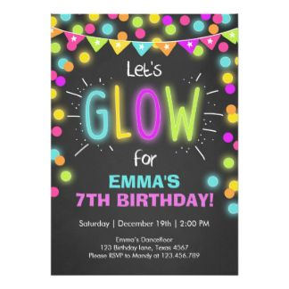 17 Best images about Ellas 10th Birthday Bash on Pinterest Glow