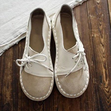 Vintage,Casual,Purple,White,Brown Brown Flat Shoes, Brown Loafers, Beige Shoes, Shoe Bags For Travel, Travel Shoes, Top Shoes, Me Too Shoes, Shoes Heels, Bleu Violet