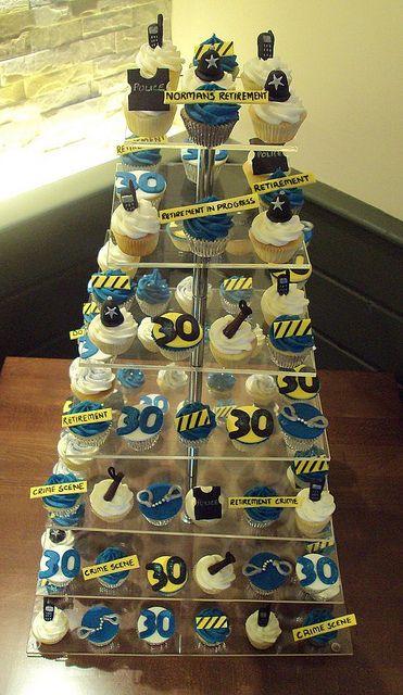 Police retirement cupcakes