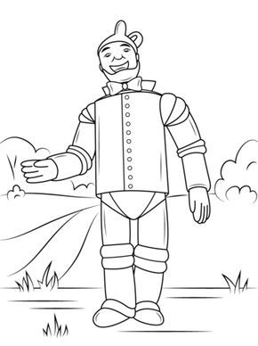 Hombre De Hojalata De El Mago De Oz Dibujo Para Colorear Mago De Oz Hombre De Hojalata Páginas Para Colorear