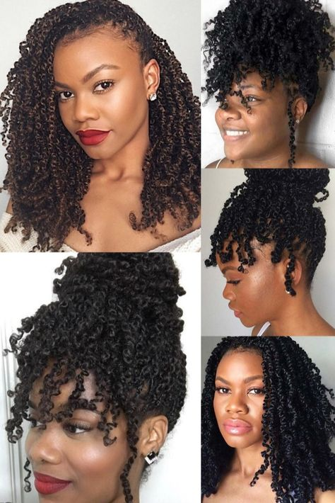 Passion twists hairstyles are hot right now and we have found STUNNING photos to share with you. You will feel inspired for your next protective style after seeing these women slay. Twist Braid Hairstyles, Twist Braids, Girl Hairstyles, Crochet Curly Hairstyles, Black Girl Natural Hairstyles, Black Hair Braid Hairstyles, Protective Styles For Natural Hair Short, Curly Braided Hairstyles, Braided Hairstyles For Black Women Cornrows