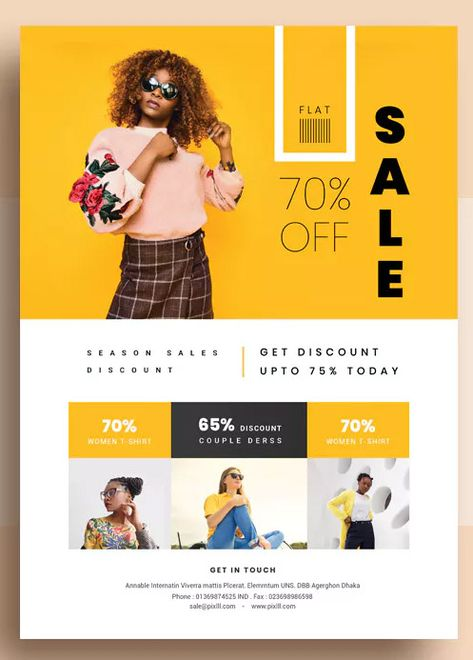 Promotional Product Sales Flyer Template PSD