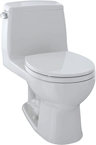 Chic Toto Ms853113e 11 Eco Ultramax Round Front One Piece Toilet Colonial White Tools Home Improvement 41 In 2020 One Piece Toilets Tall Kitchen Faucet Toto Toilet
