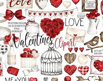 Valentine S Day Clipart Bird Clipart Watercolor Etsy In 2021 Valentines Day Clipart Valentine Clipart Clip Art
