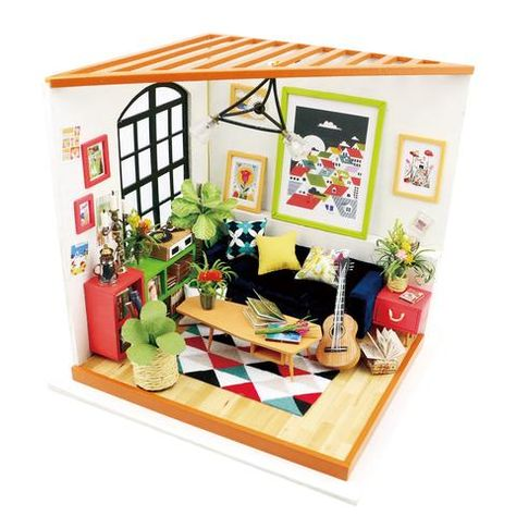 DIY Miniature House Jason/'s Kitchen Doll House Kits Dollhouse with Furniture