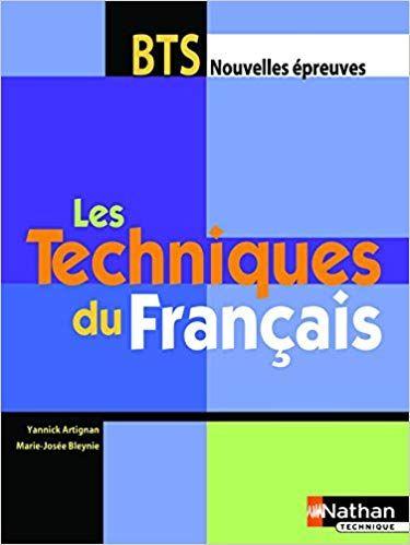 Telecharger Techniques Francais Bts Eleve Pdf Gratuitement