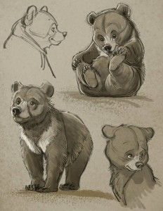 Aaron-Blaise-Bear-Cub-Character-Sketches